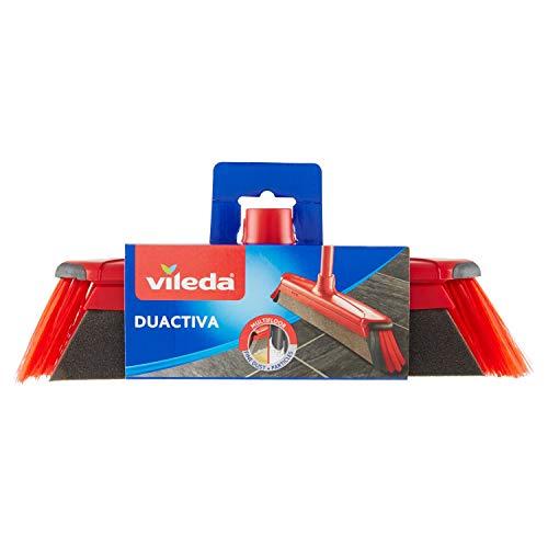 Vileda Duactiva Scopa Cattura Polvere, Scopa Elettrostatica, per Interni, con Due Tipi di Setole, con Bordo Paracolpi, 10.5 x 35 x 6 cm, 299 g