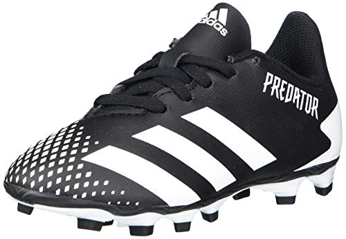 adidas Firm Ground Predator 20.4 Soccer Shoe (unisex-adult) Black/White/Black 4 Big Kid