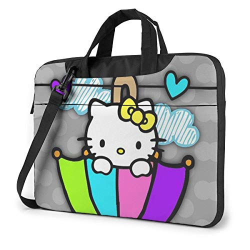 14 Inch Laptop Bag Umbrella Hello Kitty Laptop Briefcase Shoulder Messenger Bag Case Sleeve