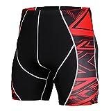 KTZAJO Traje deportivo de compresión para hombre, ropa deportiva, manga corta, para correr, correr, fitness, color KD 53, talla: XXL)