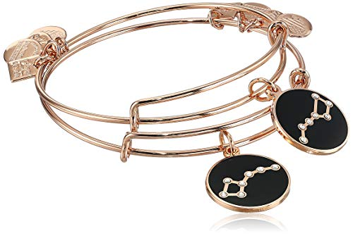 Alex and Ani Women's Big and Little Dipper Set of 2 Bracelet, Shiny Rose Gold