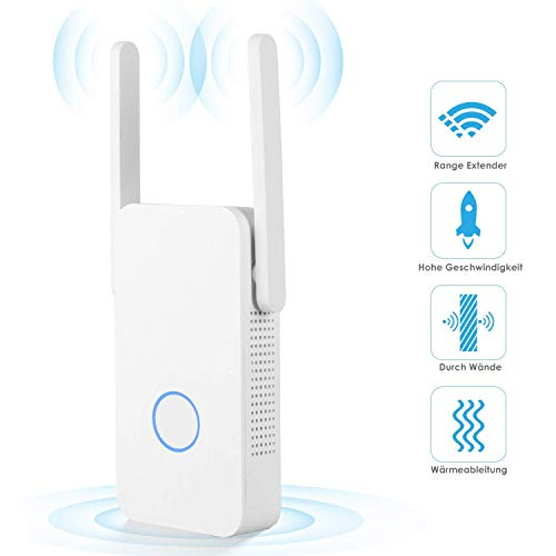 MVPower WLAN Repeater WiFi Range Extender(Dualband, WAN-Port, WPS Funktiom, AP/Repeater/Router/Bridge Modus) Kompatibel zu gängigen WLAN Geräten