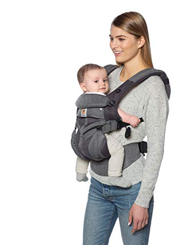 ERGO Baby エルゴベビー (Ergobaby) 抱っこひも メッシュ おんぶ 前向き抱き [日本正規品保証付] (洗濯機で洗える) ベビーキャリア 成長にフィット オムニ360 クールエア/クラシックウィーブ 0か月~ CREGBCS360PWEAVE