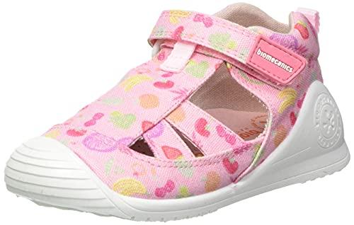Biomecanics 212212-A, Sandale bébé Fille, Rosa Y Frutas (Pique Y Estampado), 24 EU