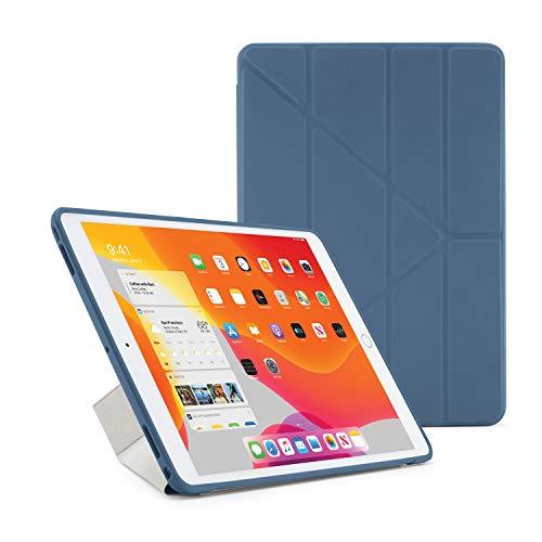 Pipetto Funda para iPad 7ª Generación 2019 10.2 Pulgadas TPU | Funda Inteligente Origami 5 en 1 | Azul Marino