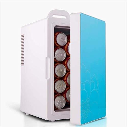 Moderne slaapzaal-koelkast, rustige desktop minibar 16 liter draagbare mini-draagbare mini auto en elektrische gelijkstroomkoeler en warmer klein huis (kleur: B)