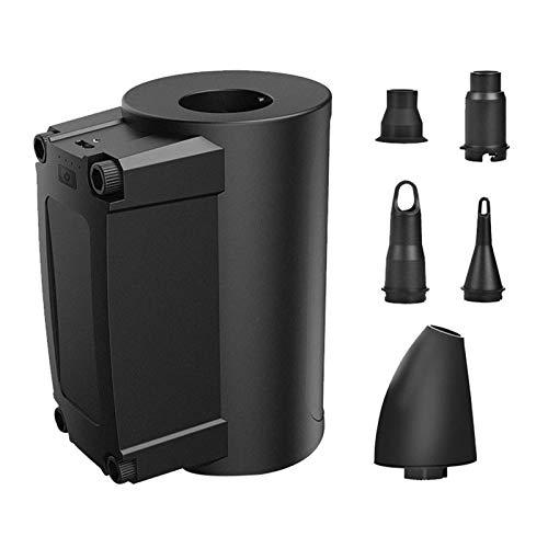 Lood Bomba de aire eléctrica y linternas 3 en 1, recargable, USB, mini inflador eléctrico, carga rápida para pelota de gimnasia, color negro