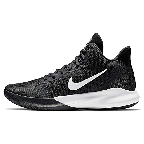 Nike Women's Precision III Basketball Shoe, Black/White, 10.5