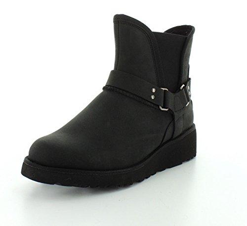 Ugg Australia Womens Glen Black Leather Boots 38 EU