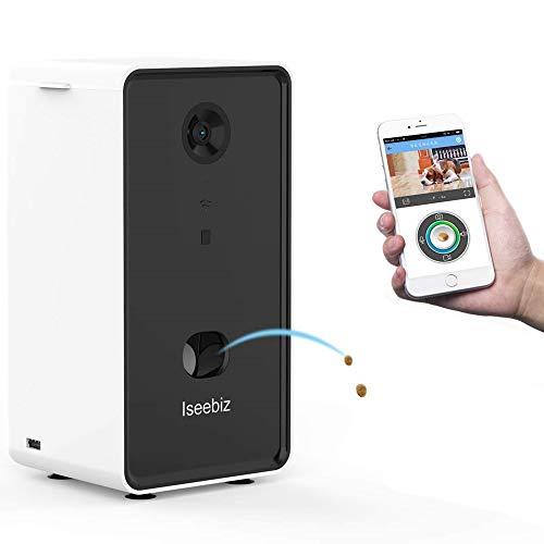Iseebiz Telecamera Intelligente per Cani, Full HD, WiFi, Visione Notturna