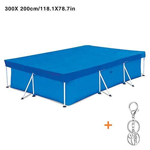 Childlike Poolabdeckung Rechteckig 300x200 cm, Rectangular Pool Cover Schwimmbadabdeckung Poolabdeckplane Rechteckig Staubdichtes - Blau