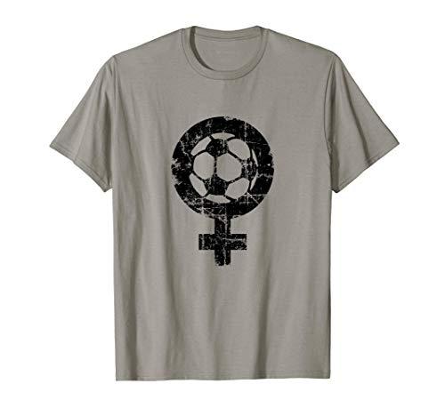Fútbol Femenino (Negro Antiguo) Mujeres Futbolistas Camiseta