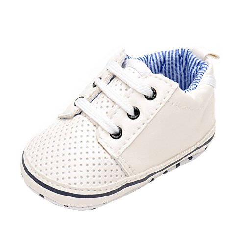 Baby Boys Girls Soft Anti-Slip Sole Sneaker Breathable Crib Shoes 3-6 Months