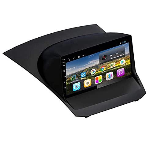 yanzz Android 9.0 Unidad Principal de Doble DIN Estéreo para automóvil para Ford Fiesta 2009-2017 Navegación GPS Pantalla táctil Reproductor Multimedia Receptor de Radio Carplay DSP RDS (Tamaño: 2