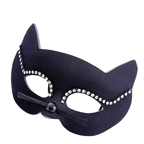 CAOLATOR.Máscara de Retro Mujeres Cristal Mascarilla Elegante Ojo de Gato Antifaz para Mascarada Veneciano Carnaval Halloween Fiesta de Baile Disfraces Juguetes