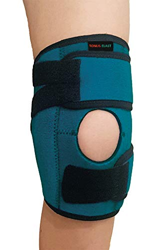 Tonus Elast Adjustable Kids Knee Brace Support   Open Patella Neoprene Wrap for Children   Juvenile Arthritis, ACL, MCL, LCL, Meniscus Tear, Exercise, Gymnastics   One Size Fits 7-14 inch