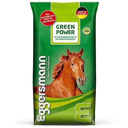 Eggersmann Green Power getreidefrei – Pferdemüsli Getreidefrei für Sportpferde – Erhöhter Energiegehalt – 15 kg Sack