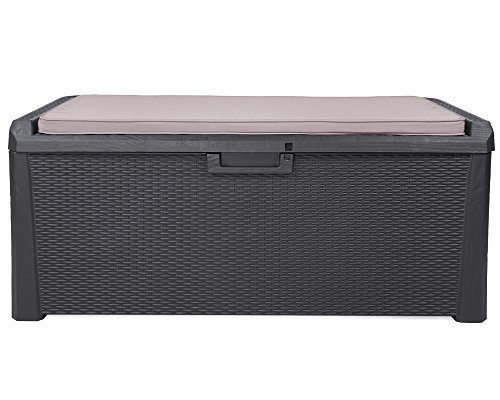 Toomax XL Kissenbox anthrazit 560 Liter Inhalt - mit Sitzfläche 380 kg Tragkraft - abschließbar