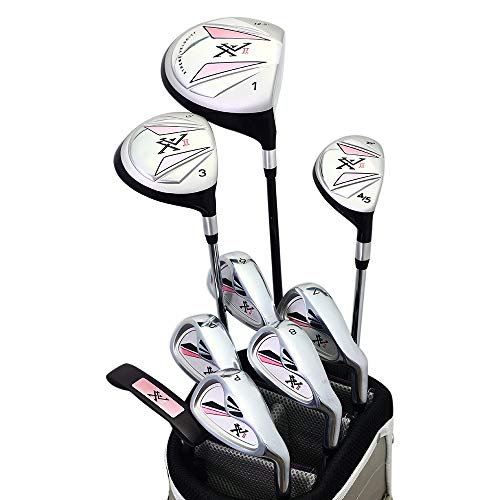 Knight XV II Women's Right Handed All Graphite Ladies Flex Complete Golf Set Package (Driver, 3 Fairway Wood, 4/5 Hybrid, 6-PW, Putter, Bag)