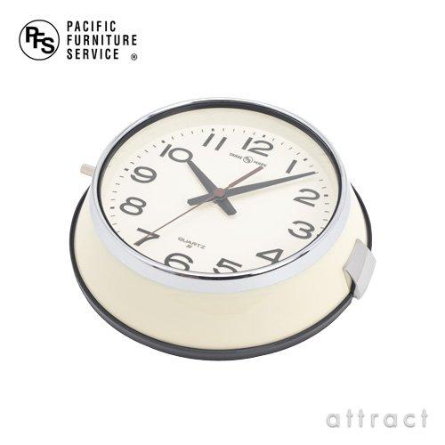 PACIFIC FURNITURE SERVICE パシフィックファニチャーサービス セイコークロック 都バス 時計 防塵時計 OC143 Φ22cm スイープセコンド 防塵防湿 カラー:アイボリー(秒針ブラウン) (壁掛け時計 掛時計 ウォールクロック)