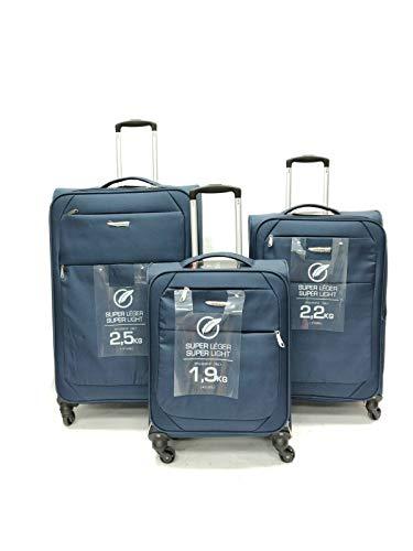 Maletas ultraligeras con 4 ruedas giratorias para equipaje de mano, bolsa de cabina, maleta de viaje, color azul, cabina de 50,8 cm