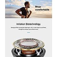 磁性金属イヤホンスーパーベースステレオイヤホンSweatproofヘッドセットイヤーセット,ブラック