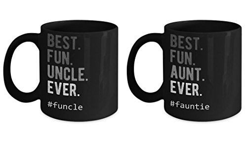 Fauntie and Funcle Definition Mug Best Fun Aunt Uncle Ever Anty Auntie Funny Niece Nephew Gift Faunty Coffee Cup
