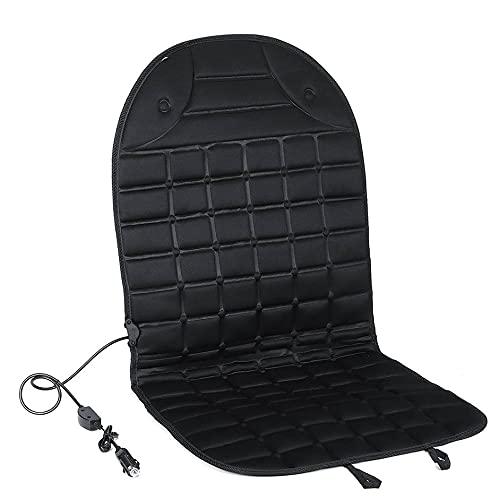 SENZHILINLIGHT Cubierta de calefacción de asiento de coche cuadrado individual asiento de invierno calefacción asiento cojín invierno cubierta de protección de asiento de coche
