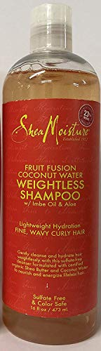 Shea Moisture Fruit Fusion Coconut Water Weightless Shampoo w/ Imbe Oil & Aloe 16 ounces