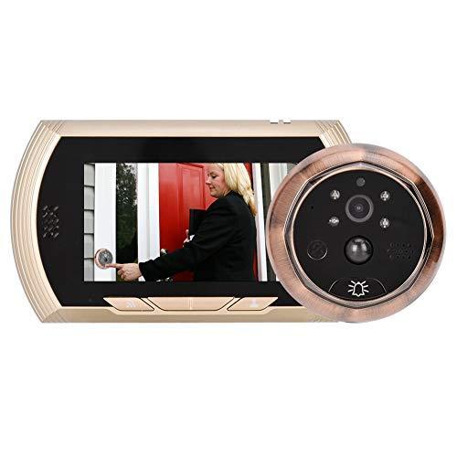 """WiFi Cámara Inteligente Vista de Puerta, Pantalla HD TFT de 4.3\""""WiFi Cámara de Mirilla, Visor Digital de Timbre con Visión Nocturna por Infrarrojos + Lente de Angel de 150 ° Ancho + App Control"""
