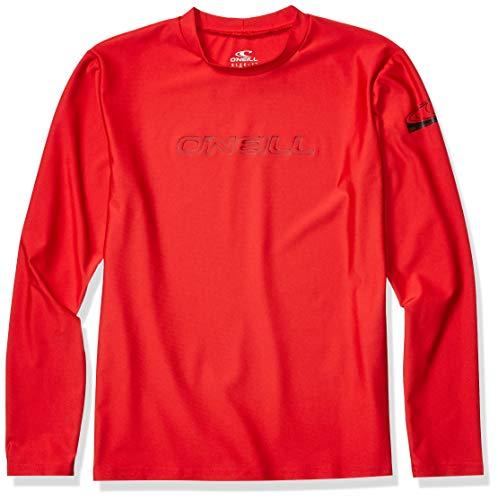 O'Neill Youth Basic Skins UPF 50+ Long Sleeve Sun Shirt, Red, 12