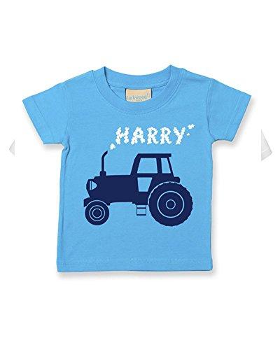 Ice-Tees Big Farm Tracteur personnalisé pour bébé/enfant - Turquoise - 18 mois