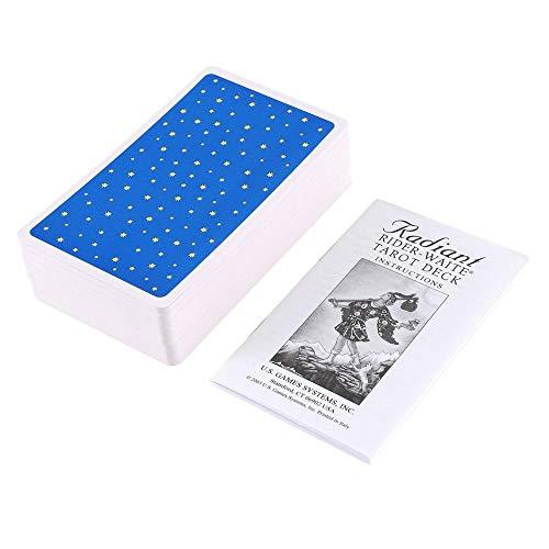 YUNMEI Tarot Deck Juego de Mesa 24sets Juego De Mesa Tarot La Fuente Tarot Simple para Dominar La Vida Inspirada Única Da A Las Cartas Un Bonito Resbalón Multicolor 1 Caja