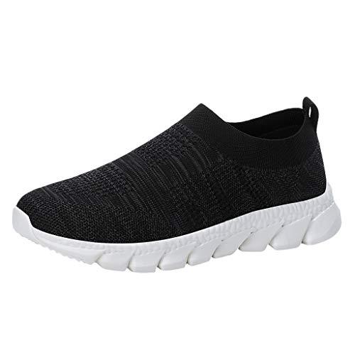 HEETEY Mode Herren Mesh atmungsaktiv tragbare Outdoor leichte Sportschuhe Laufschuhe Fitness straßenlaufschuhe Sneaker Sportschuhe atmungsaktiv rutschfeste Mode Freizeitschuhe Sneakers Leichte Schuhe