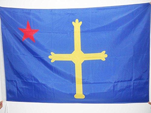 AZ FLAG Bandera de Asturias ASTURINA 90x60cm para Palo - Bandera NACIONALISTA ASTURIANA - INDEPENDENTISTA 60 x 90 cm