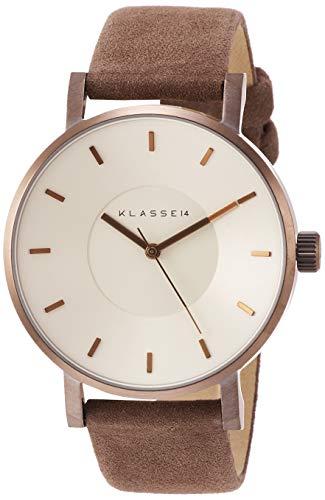 KLASSE14 腕時計 VOLARE VINTAGE GOLD 42mm ヴィンテージ ゴールド スエード 本革 メンズ VO18VG001M