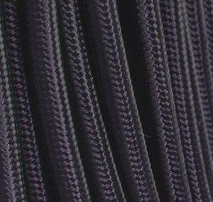 Fil électrique tissu noir