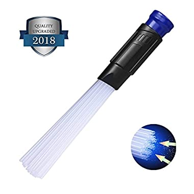 Universal Vacuum AttachmentsBrush Cleaner Dirt Remover Vacuum Cleaning Tool Attachment Handy Flexible for Home, Air Vents, Corner,Pets, Drawer, Car.