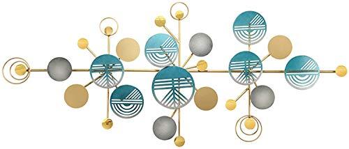 ZHICHUAN Nuevo - Metal Pared Del Arte, Decoración Grande de la Pared Fabricadas a Mano, Oro Azul Y Gris de Los Círculos Colgantes Resumen de Pared, para la Escultura Interior Y Exte
