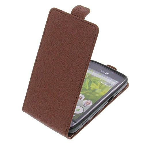 foto-kontor Tasche für Doro 8031 Smartphone Flipstyle Schutz Hülle braun