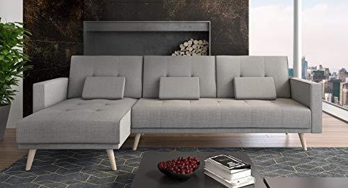 Ecksofa Couch –  günstig   Schlaffunktion umbaubar Bild 4*