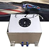 20L Tanque de combustible de aluminio con sensor de nivel de aceite Universal Turbo Depósito de carreras para coches carreras motor