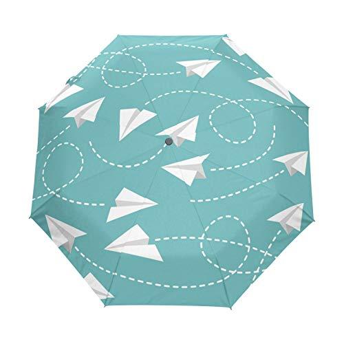 BALLL Parapluie pliable automatique anti-UV en papier pour avion
