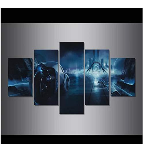 SDGW Tron Legacy Posters E Impresiones Arte De La Pared Pintura De La Lona Cuadros De La Pared para La Sala De Estar Decoración del Hogar Regalo para Niños-40X60Cm 40X80Cm 40X100Cm Sin Marco