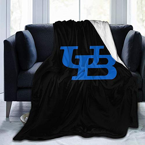"""NOT Your Feel University at Buffalo Condensed Blanket Wool Sherpa Vacation Throw Blanket University Dormitory Travel Soft Warm 4 Seasons Available 50""""x40"""" for Kid"""