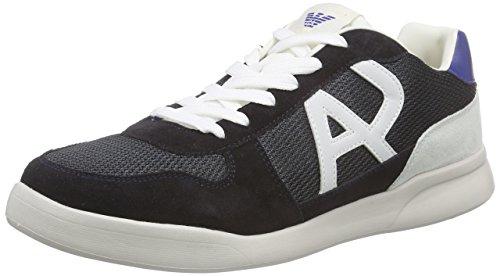Armani Jeans Shoes & Bags DE Herren C651541 Low-Top, Blau (BLU - BLUE 35), 44 EU