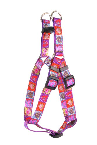 Yellow Dog Design Step-In Harness, Large, Crazy Hearts