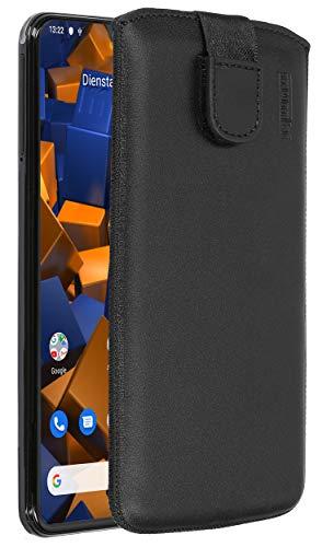 mumbi Echt Ledertasche kompatibel mit Samsung Galaxy A20e Hülle Leder Tasche Hülle Wallet, schwarz