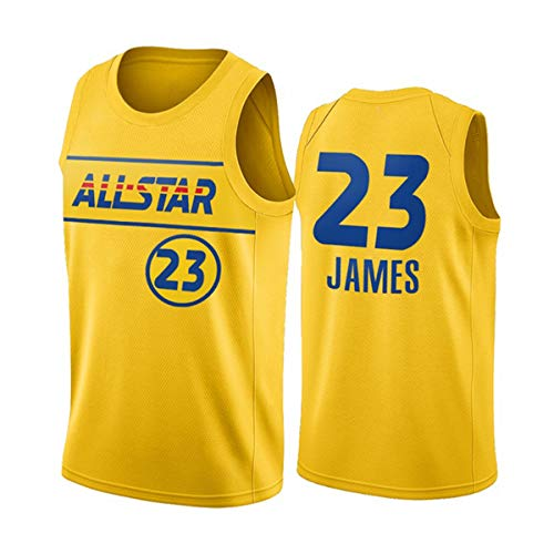 ATI-HSKJ Maglie da Basket NBA, 2021 Basketball all-Star Lebron James # 23 Jersey Cool Tessuto Traspirante Swingman Senza Maniche Canotta Top Abbigliamento,XL(180~185CM/85~95KG)