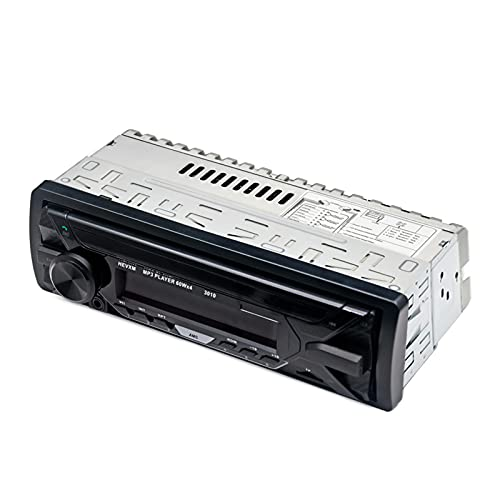Mothcattl Estéreo para Coche 3010 con Bluetooth, Manos Libres Portátil con Disco AUX/U/Radio FM Altavoz De Música Reproductor De MP3 para Vehículos Negro